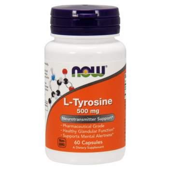 Аминокислоты NOW L-Tyrosine 500 мг производство США