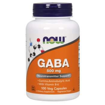 Аминокислоты NOW GABA 500 mg производство США